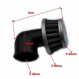 Oro filtras 38mm 90 laipsnių kampų